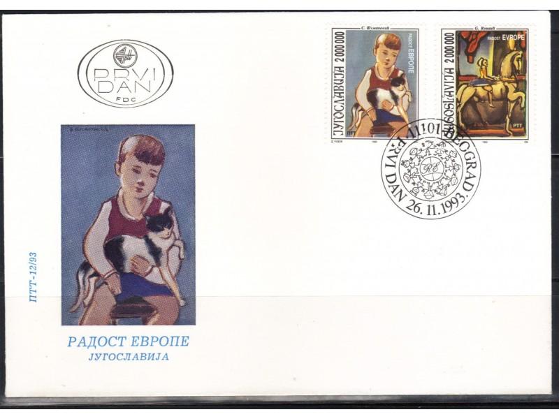 Radost Evrope 1993.,FDC