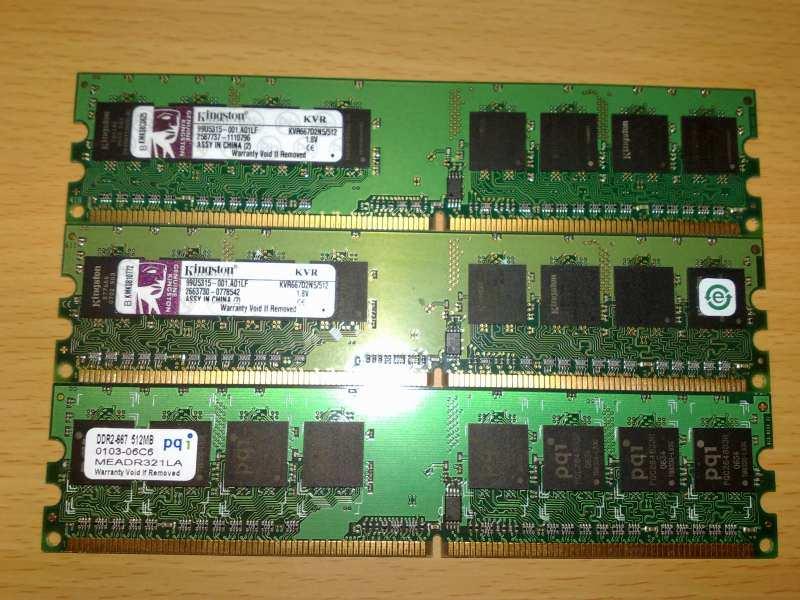Ram Ddr 2 - 3 x 512 Mb (1,5 Gb)!