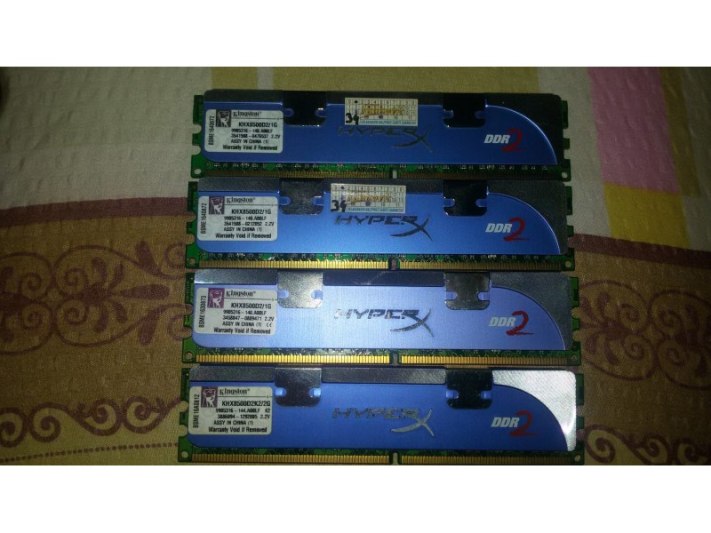 Ram Kingston Hyper Extreme 1066 Mhz 4 x 1 Gb kao nove!