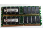 Ram memorija,Kingston 1gb,ddr 1(2x512)