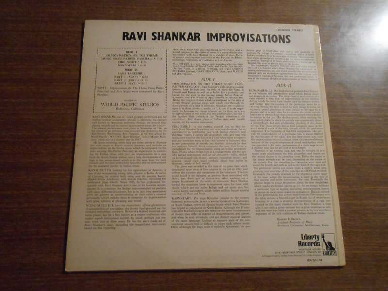 Ravi Shankar - Improvisations And Theme From Pather Panchali