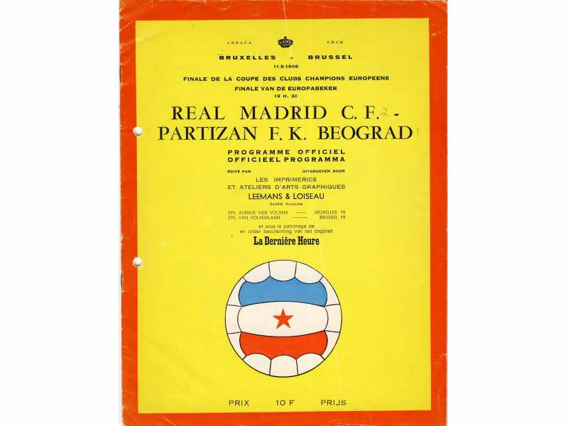 Real Madrid - Partizan   ,   Finale KEŠ-a  1966.god.
