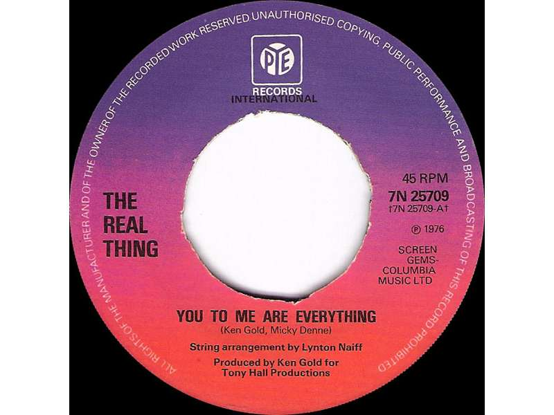 Real Thing, The - You To Me Are Everything