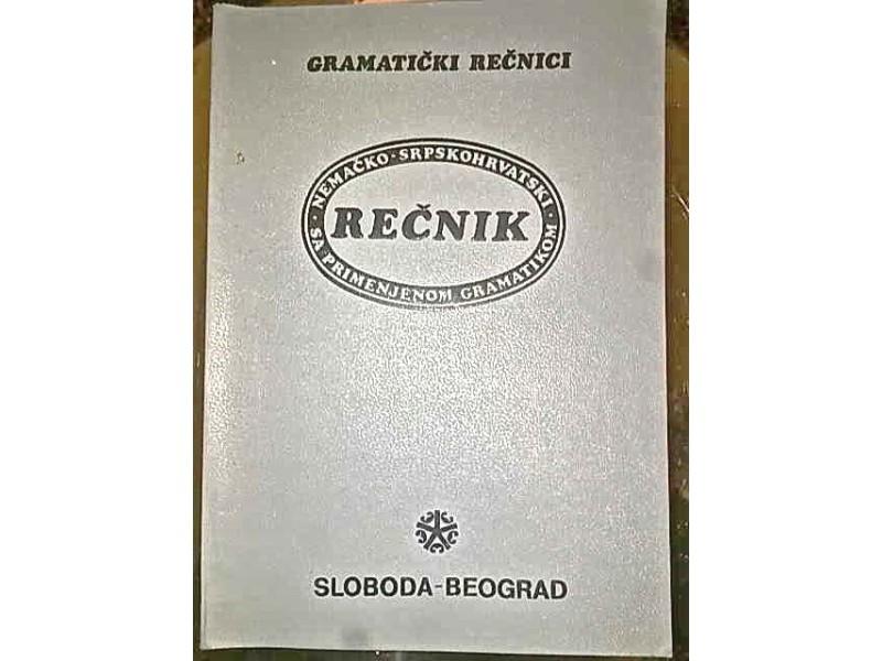 Recnik Nemacko-srpskohrvatski sa primenjenom gram.