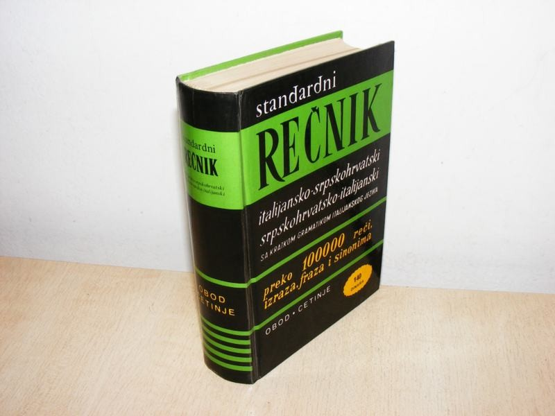 Rečnik italijansko-srpskohrvatski (besplatna dostava)
