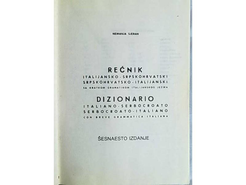 Recnik italijansko-srpskohrvatski