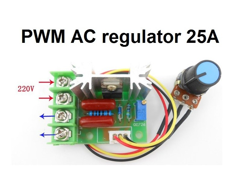 Regulator AC motora - PWM - 25A - 2000W