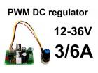Regulator DC motora - PWM - 3/6A