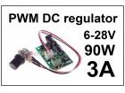 Regulator DC motora - PWM - 3A