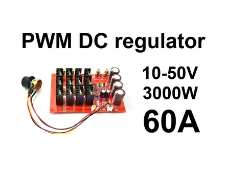 Regulator DC motora - PWM - 60A - HHO