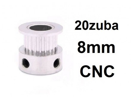 Remenica GT2 - 20 zuba - 8mm rupa