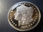 Replika    1  US $, Morgan silver One Dollar 1896. UNC