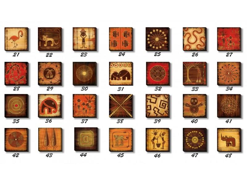 Reprodukcije na medijapanu African art 20X20cm.