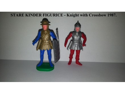 Retro Kinder figurica - Knight with Crossbow 1987.