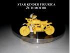 Retro Kinder figurica - zuti motor 1980`