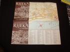 Rijeka,plan grada i vodic,oko 1960.