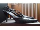 Rita Eliseo kožne crne sandale 39