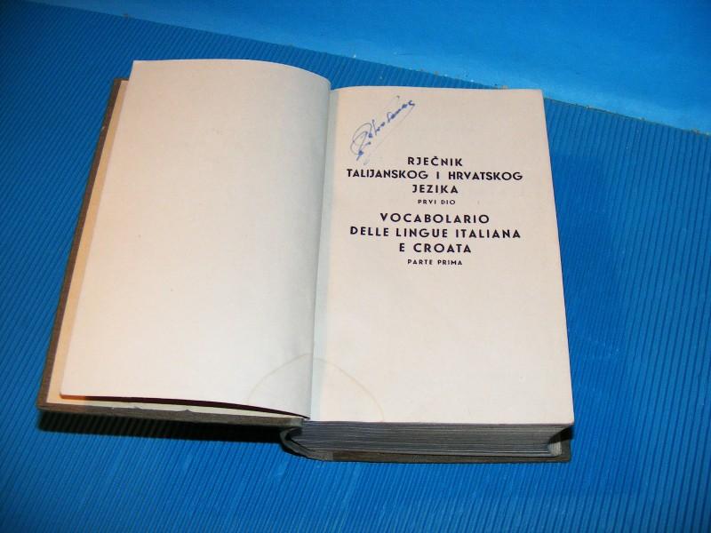 Rječnik talijanskog i hrvatskog (besplatna dostava)