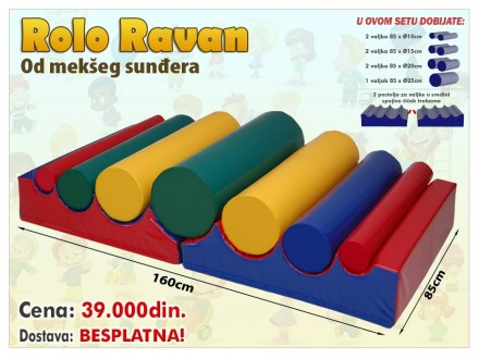 Rolo Ravan - elementi za igraonice i igranje dece