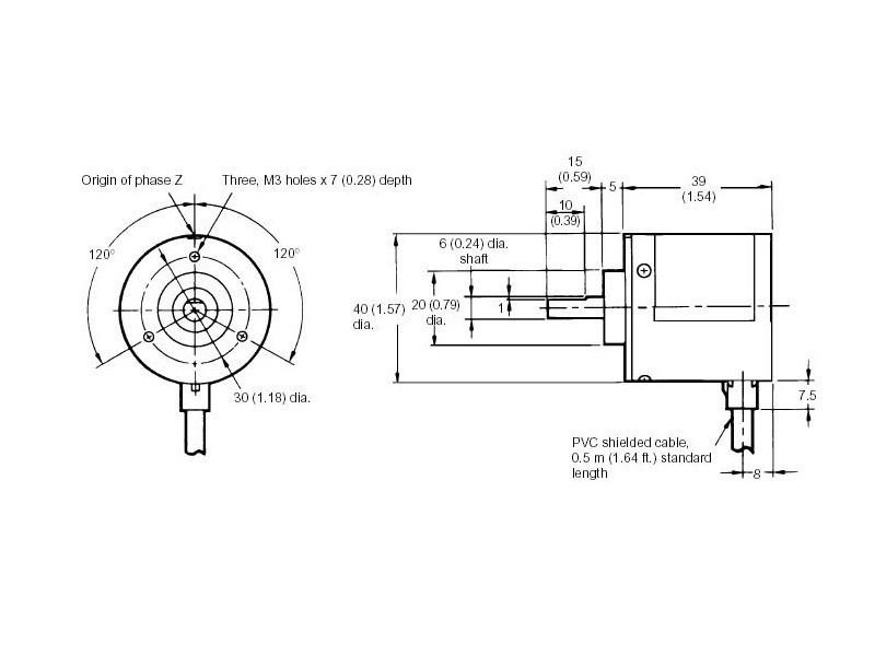 Rotacioni enkoder - 600 impulsa - OMRON