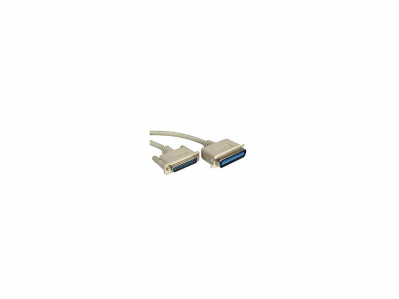 Rotronic Roline Centronics Parallel Printer Cable DB25 M - C36 M grey 6.0m