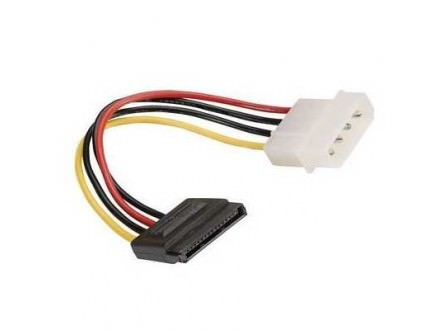 Rotronic Roline SATA, molex 15 pin to 4 pin power adapter, 0.15m