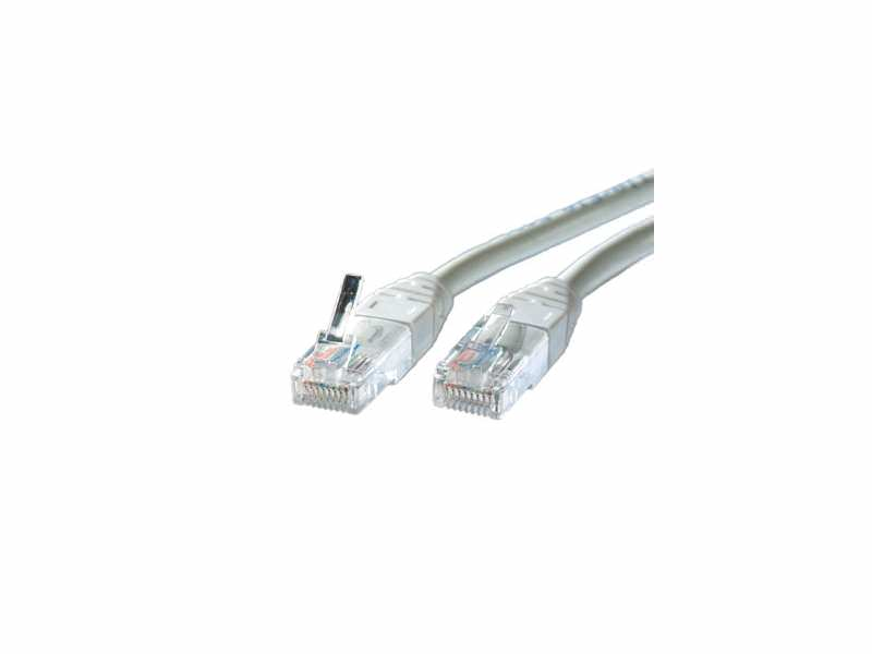 Rotronic Value UTP Cat5e Patch, grey, 1.0m