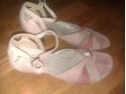 Roze sandale, prevrnuta koza br 38, bez mana