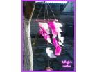 Rozi,pink hvatac snova sa belim detaljima