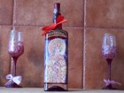 Ručno oslikana flaša sa likom kraljice Simonide