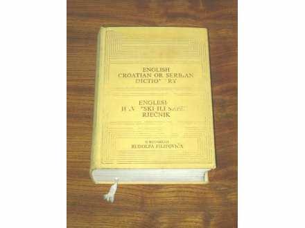 Rudolf Filipović - Englesko-hrvatski ili srpski rječnik