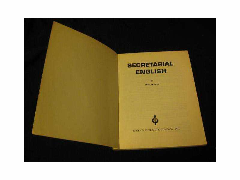 SECRETARIAL ENGLISH Donald A. Cheff