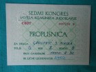 SEDMI KONGRES SKJ-1958.g.-PROPUSNICA,KARTA J.Ž...-/D29/