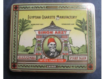 SIMON ARZT limena kutija za cigarete