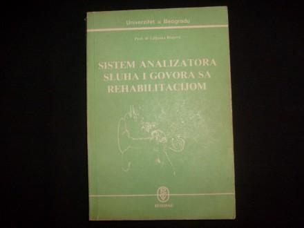 SISTEM ANALIZATORA  SLUHA I GOVORA SA REHABILITACIJOM