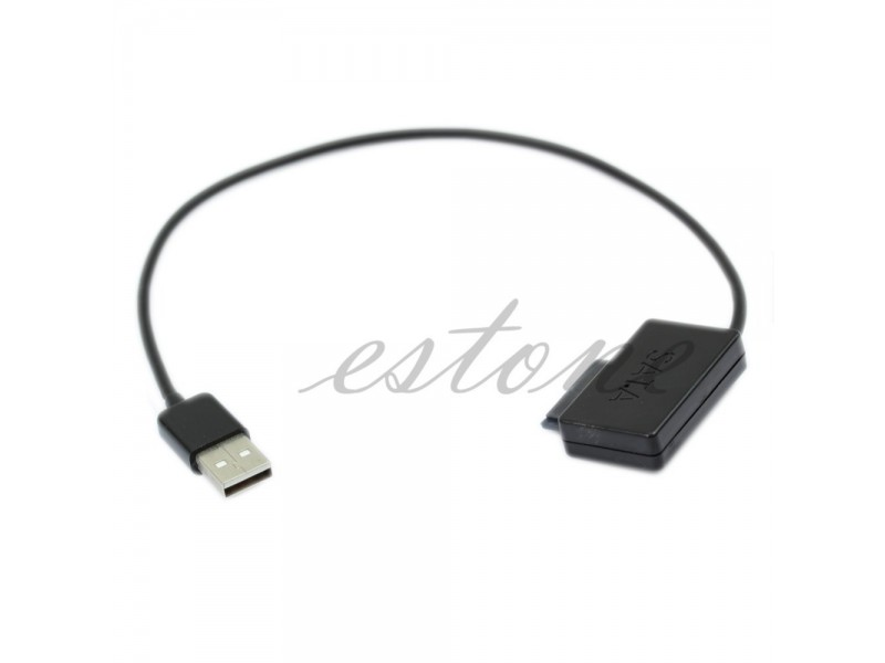 SLIM SATA to USB adapter konvertor 13 pin 7+6 pinski