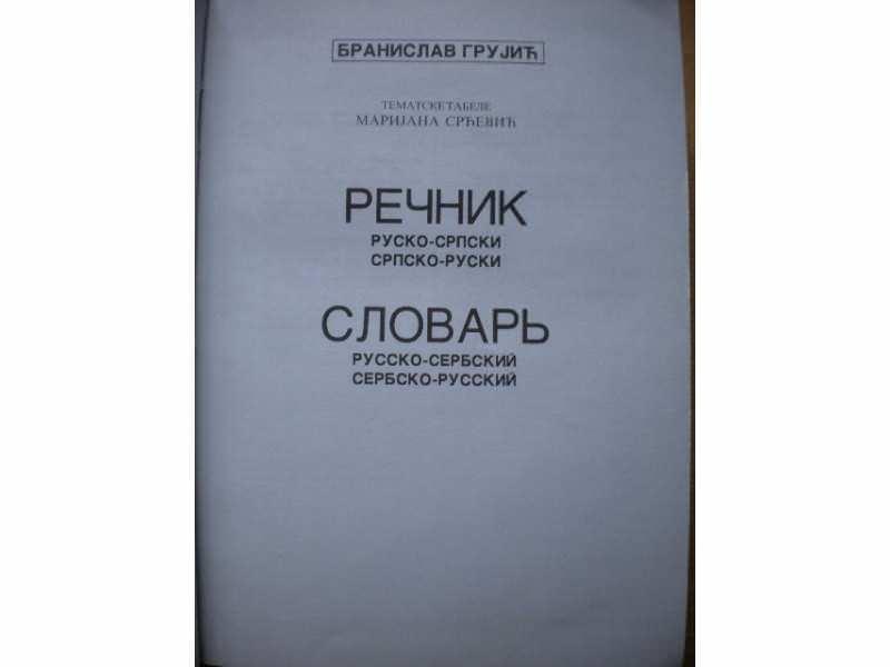SLOVAR rusko - srpski, srpsko - ruski