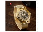 SOXY Brand Golden Silver Luxury Hollow Steel Watches