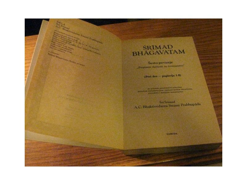 SRIMAD BHAGAVATAM ( Šesto pevanje - prvi deo )