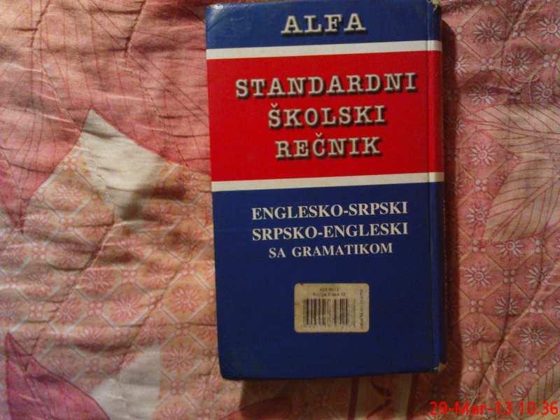STANDARDNI  SRPSKO-ENGLESKI - ENGLESKO - SRPSKI