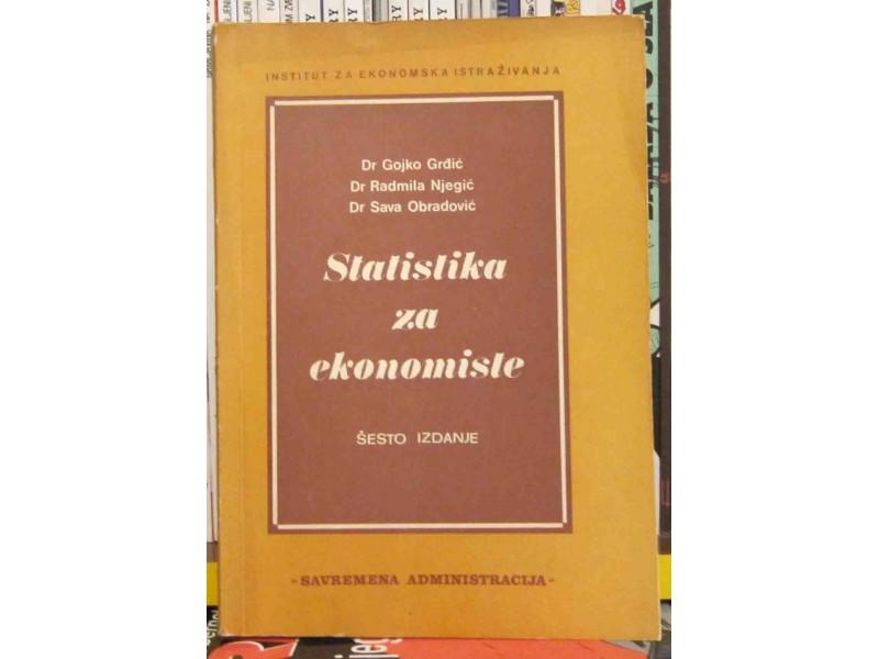 STATISTIKA ZA EKONOMISTE - Grdjić, Njegić, Obradović