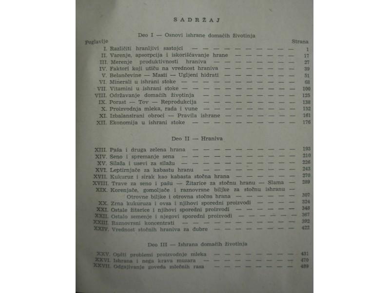 STOCNA HRANA I ISHRANA STOKE - F. B. Morison