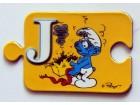 ŠTRUMPFOVI puzzle slovo magnet - J