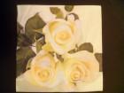 Salveta 3 žute ruže