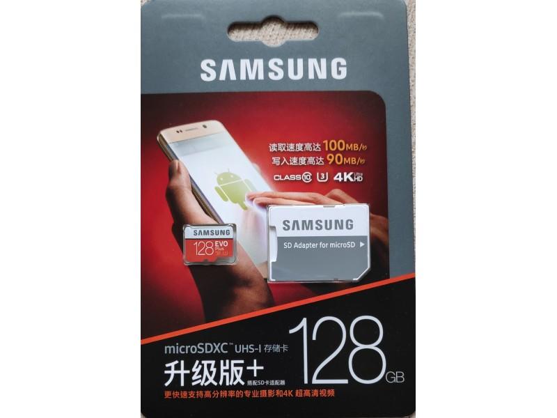 Samsung 128GB Micro SD EVO PLUS 100 mb/s - Kupindo.com ...