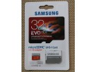 Samsung 32GB Micro SD Card SDHC EVO+80mb/s sa Adapterom