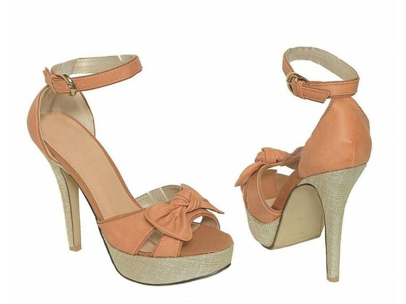 Sandale 18 NOVO - krem i narandzaste