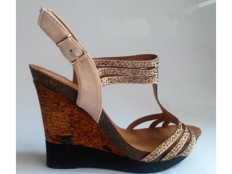 Sandale 20 NOVO - roze, bez i crne