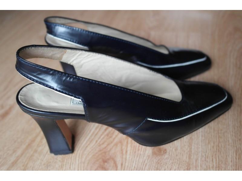 Sandale JOLIE elegantne sve koža br.37,teget