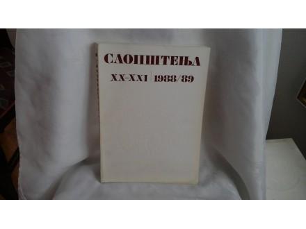 Saopštenja republički zavod za zaštitu spomenika XX-XXI